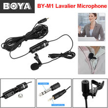 10pcs/lot BOYA BY-M1 Omnidirectional Condenser Microphone Wired Collar Microphone For DSLR, Camcorders, Audio Recorder, PC
