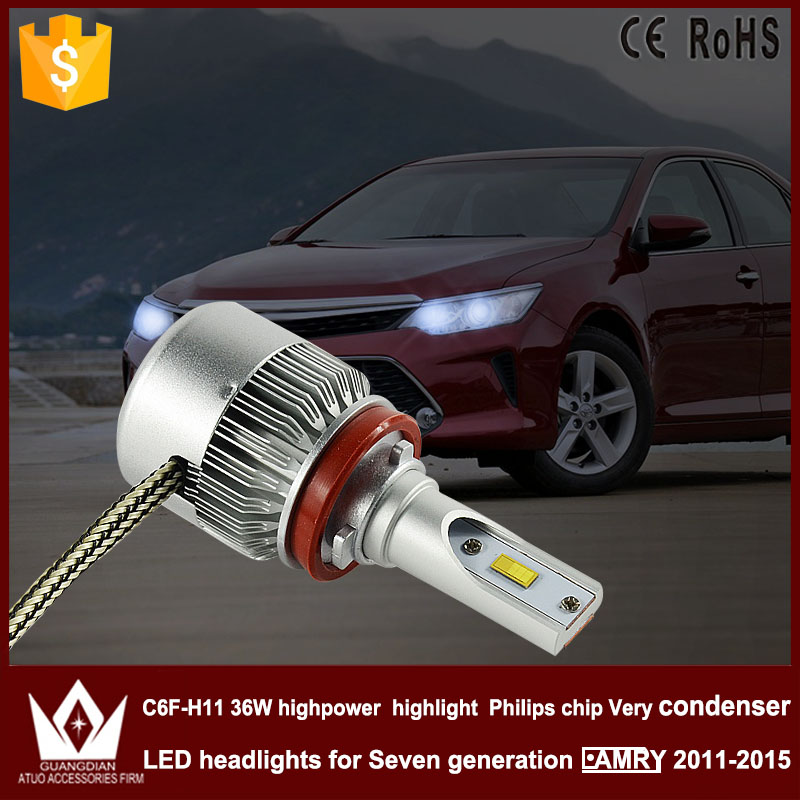 Guang Dian car led light 9005 Headlight Head lamp high beam 9005 hb3 C6F 6000K white 12V 36W high power for camry 2011-2015 only<br><br>Aliexpress