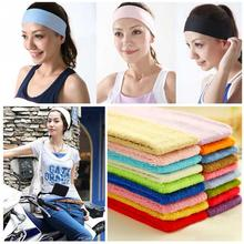 New Women Hair Beauty Tool Candy Color Fitness Hair Lead Cloth Towels Absorb Sweat Washable Cotton Wide Hair Scarf Accessories