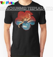 Teeplaza T Shirt Creator Flower Hawaii Pele Short Men Crew Neck Fashion 2017 Tees(China)