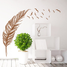 Wall Sticker pvc Birds Flying Feather Bedroom Home Decal Mural Art Decor Wall Stickers Best Decoration Brand New