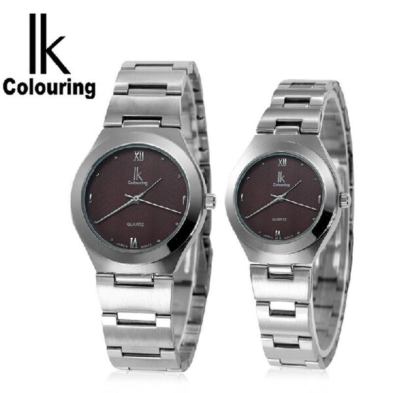 Ik for vintage quartz watch lovers table circle womens watch commercial mens watch 98030g <br>