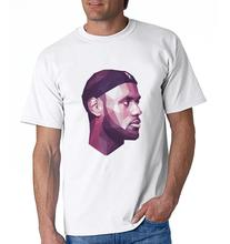 2017 New Arrival Famous Player LEBRON JAMES Jerseys Printed T Shirt Hot Sale Plus Size Tees Cotton Slim Men T-Shirt