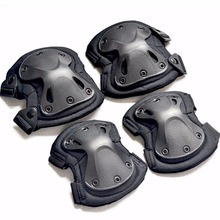 4pcs/set of kneepad CS tactical armor knee pads elbow climbing field pulley riding exercise Sports protective gear(China)