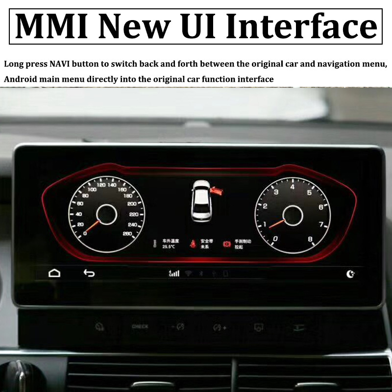 Liislee Car Multimedia Player NAVI 10.25 inch For Audi A6 C6 4F 2004~2011 Riginal Car MMI Style Radio Stereo GPS Navigation (6)