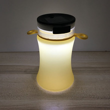 500ml Capacity New Product Silicone Material Water Bottle Kettle with Solar Light Function
