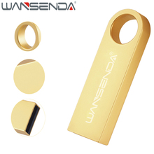 WANSENDA Waterproof USB Flash Drive 64GB Pen Drive 32GB 16GB 8GB 4GB Metal Pendrive Real Capacity USB Stick Customize Logo(China)