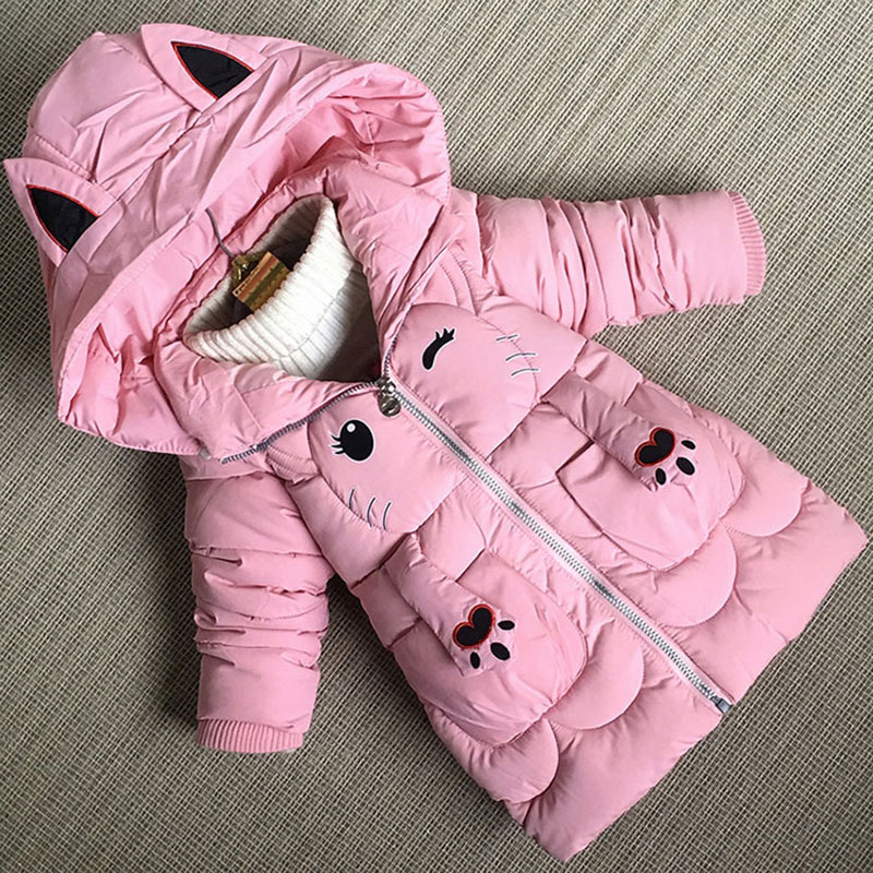 1-5T little girls baby clothes winter outfits thick cartoon jacket outerwear for toddler baby girls clothing cute jackets coats<br>