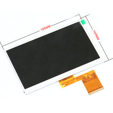 "Original New LCD Display For 7"" Allwinner A13 Q88 Q8 Tablet LCD Display 164*104mm 1024*600 60Pin Screen Panel Free Shipping"