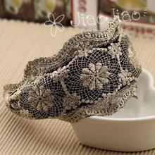 Wide Lace Cloth Black Band Hairbands Headbands Girls Fashion Headwear Trendy Hair Accessories for Women