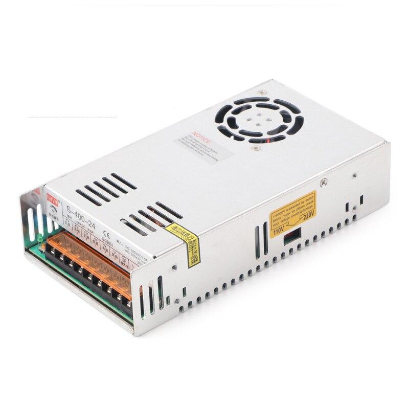 S-400-24 Switching Power Supply 400W 24V 16.6A  AC-DC Converter/inverter/voltage Input voltage AC200-240V <br>