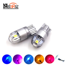 1PC Car-Styling W5W LED T10 3030 2SMD Auto Lamps 168 194 Bulb Clearance Plate Parking Fog Auto Cars Lights White Red Yellow Blue(China)