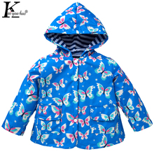 2017 New Waterproof Hooded Girls Coat Children Clothing Fashion Outwear Raincoat Jackets Baby Boys Spring Jacket Kids Clothes