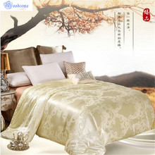 100% Mulberry Silk Quilts 2017 Bed Comforters Country Quilts Silk Blanket Fabric Super King Quilt Yellow Pink Twin Comforter