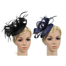 Elegant Lady Flower Fascinator Hat Hair Band Wedding Costume Party Black