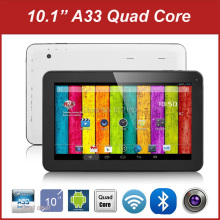 Free Shipping Best Quality Android 4.4 Allwinner A33 Quad Core 10 inch Capacitive Screenn Tablet PC 1GB/8GB Buetooth WiFi(China)