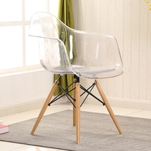 LANSKAYA 2 Pieces of Set Simple Fashion Creative Leisure Negotiate Dining Plastic Transparent Contemporary Chair Furniture