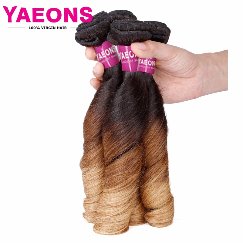 8A Malaysian Virgin Hair Spring Curl Ombre Hair Extensions 3 Bundles Ombre Human Hair 1B/4/27 Malaysian Curly Hair<br><br>Aliexpress