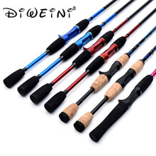 High Quality Portable Fishing rods M Power 2 Section Spinning Eod Casting Rod 1.7M 1.8 M Winter Fishing Rod 3 Colors
