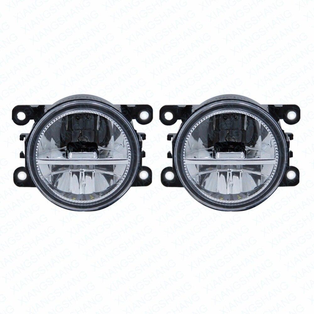 LED Front Fog Lights For MITSUBISHI PAJERO IV Van V80 V90 Box Car Styling Round Bumper DRL Daytime Running Driving fog lamps<br>