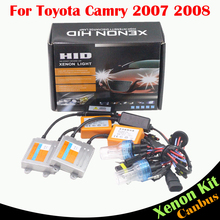 Cawanerl 55W Automotive HID Xenon Kit No Error Ballast Bulb AC 3000K-8000K For Toyota Camry 2007 2008 Car Headlight Low Beam