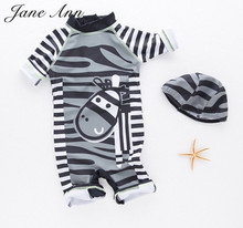 Baby Boy Swimwear Children Swimsuit Bathing Beach Spa Pool Swimming Black Zebra Romper+Hat 2pc Suits Kids Infant Summer Clothes - Jane Ann Store store