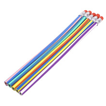 Buy 50PCS Soft Flexible Bendy Pencils Magic Bend Kids Children School Fun Equipment for $8.30 in AliExpress store