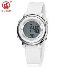 OHSEN Children Watch Digital LED Luminous Sports Watches Women New Silicone Relogios Fashion Kids Outdoors Waterproof Watches(China)