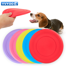 YVYOO Pet training supplies Rubber 18cm Flying Discs Non-toxic health Dog Interactive toys 1 pcs(China)