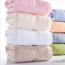 2017 newest 1-Piece Solid Color Egyptian Cotton Towels Large Bath Towel For Adults High Absorbent Terry Towels 70x140cm
