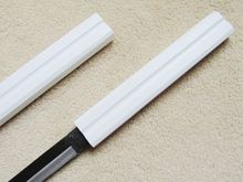 "S1606 NEW NARUTO SASUKE KUSANAGI NO TSURUGI CENTER GROOVE SWORD SOLID WHITE 40""(China)"