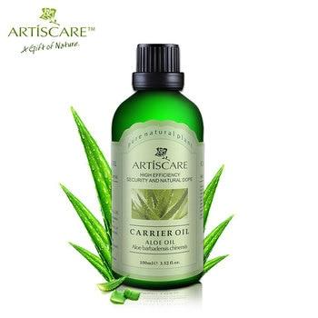 ARTISCARE 100% Natural de Aloe Aceite Base 100 ml Hidratante y Aceite de Masaje Hidratante Reparación de La Piel Anti-Envejecimiento Facial de Aloe Aceite portador