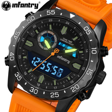 INFANTRY Top Brand Luxury Mens Watches Fashion Casual Sport Wristwatch LED Display Date Clock Army Military Relogio Masculino(China)