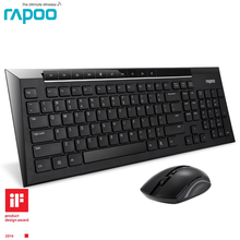 Rapoo 8200P Slim Wireless Keyboard With Mouse MultiMedia wireless keyboard and mouse for Computer/Android Smart TV/Desktops PC(China)