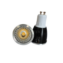 5X Popular E27/E14/GU10/MR16 7W COB LED spotlight with led lens aluminum shell led spotlight free shipping