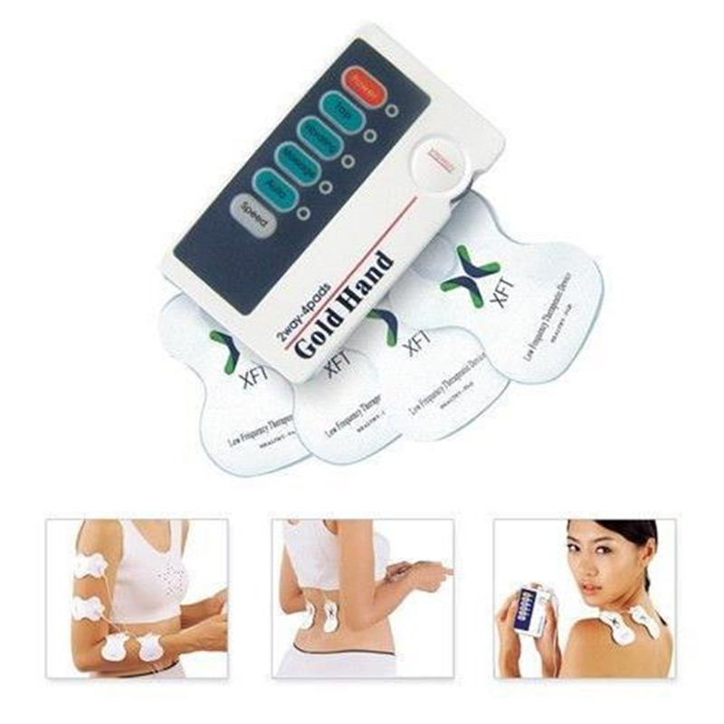 Electronic Low Frequency Massager Device Portable Therapeutic Massage Chinese Traditional Medical Theory With 4Pcs MASSAGE PADS<br><br>Aliexpress