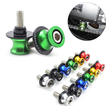 New Hot Motorcycle Swingarm Sliders Spools M10 For Kawasaki z250 z300 kx 125 85 65 ZX636R zx10r zx7r Z750R ZX6R Z1000SX W800 ZZR