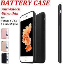 7 Thin Ultra Slim External Battery Case For iPhone 7 Plus 6 iPhone 6S Charger Case Extra Battery Pack Power Bank 6 S Backup Mfi