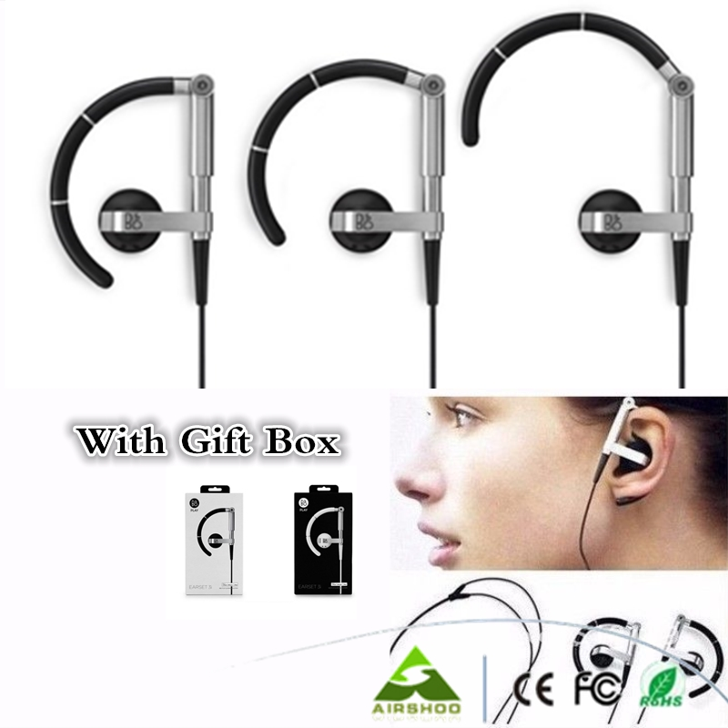 10PCS Pretty Price DHL FREE SHIP New B&amp;O Earset 3i Earhook Sports Earphones With Mic Mini Black &amp; White Headset PK SE215<br><br>Aliexpress