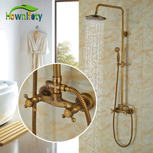 Classic Wall Mounted Faucet Autique Bronze Surface Brass Shower Faucet(China)