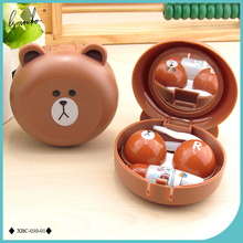 Lymouko New Design Cute Little Bear Contact Lens Case with Mirror Contact Lenses Box for Man and Women