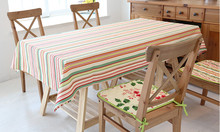 Large Size 100% Cotton Table Cloth colorful Plaid Tablecloths Table Cover High Quality decoration customized wedding gift(China)
