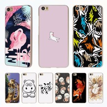 animal fox dog Flamingo style clear phone shell Case for Xiaomi Redmi Note 3 Note4 3 3s 4 4A Xiaomi Mi 4 5 5s