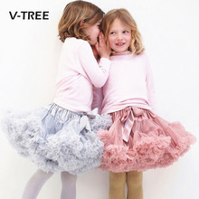 V-TREE Girls tutu skirt 0-10 Years Chiffon Pettiskirt Solid Colors tutu skirts girl Dance Skirt Christmas Tulle ballet Petticoat