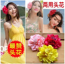 New Bohemia Style Peony Flowers Hair Clips Hairpins for Women Hair Accessories for Beach 8 colors can be choosed