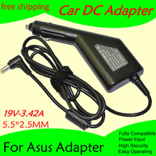 Free shipping High quality DC Power Car Adapter Charger 19V 3.42A For Laptop Asus  5.5*2.5MM 65W Input DC11-15V max 10A