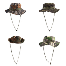 Outdoor Men Women Camo Bucket Boonie Hat Cap Hunting Hiking Fishing for Marine Sea Fishing Canoe Kayak Rowing Boat Acessories