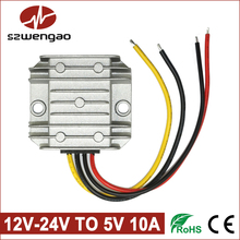 Wengao @ DC DC Converter Regulator Step Down Buck Module 12V to 5V, 24V to 5V 10A 50W LED Power Supply