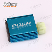 POSH 6pin GY6 Racing 4+2Pins CDI Fit to125cc 150cc 200cc Motorcyle Scooter ATV Quad Go Kart Buggy Direct Current