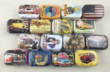 16pcs/lot American Style Vintage Mini Tin Box Storage Boxes Jewelry Wedding Favor Candy Box Accessories Free Shipping